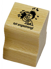 Elbi Lehrerstempel (modern) - toll angestrengt