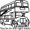 Elbi Lehrerstempel - Englischstempel - Londoner Doppeldeckerbus - You're on the right track