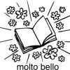 Elbi Lehrerstempel aus Holz - Italienischstempel - Heft mit Wort molto bello