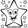 Elbi Lehrerstempel aus Holz Italienischstempel Strahlender Stern mit Wort eccellente