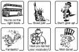 Elbi Englischstempel Set 6 x Stempel für den Englischunterricht – Set I
