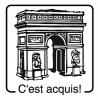 Elbi Holzstempel Französischstempel für Kinder - C'est acquis!