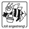 Elbi Motivstempel Kinder Holzstempel - toll angestrengt