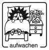 Elbi Holzstempel Lehrerstempel für Grundschule aufwachen