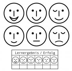 Smiley Gesamtset  6 Smileys und 1 Erfolgsstempel