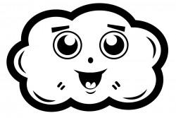 Elbi Lehrerstempel - Motivstempel - Wolke fröhlich