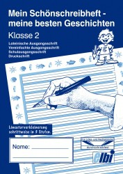 Elbi Schönschreibheft und Geschichten Klasse 2 Jahresheft für Schönschrift und Aufsatz für Grundschule, Förderschule und Flüchtlinge in Übergangsklassen oder Intensivklassen
