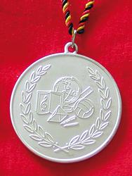 Silbermedaille Weltkugel …
