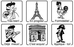 Elbi Französischstempel Set Stempel für den Französischunterricht