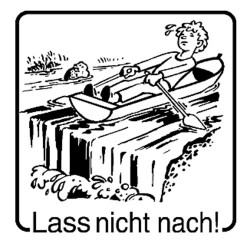 Elbi Motivstempel Kinder Holzstempel - Lass nicht nach!