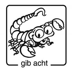 Elbi Motivstempel Kinder Holzstempel - gib acht