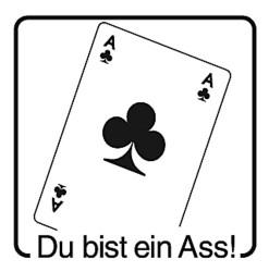 Elbi Lobstempel aus Holz - Du bist ein Ass!
