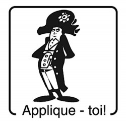 Elbi Lehrerstempel Französischstempel Holzstempel - Applique - toi!