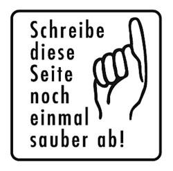 Elbi Schulstempel - Textstempel neu schreiben