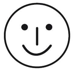 Elbi Motivstempel Kinder Holzstempel - Mimikstempel lächelnd