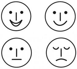 Elbi Lehrerstempel Stempelset aus Holz 4 x Smileys / Gesichter