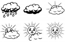 Elbi Lehrerstempel Stempelset mit Motiv 6 x Leistungssteigerung Sonne / Wolke