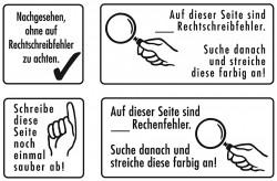 Elbi Lehrerstempel Stempelset aus Holz Heftführung