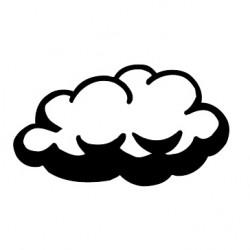 Elbi Stempel aus Holz - Lehrer Motivstempel - Wolke