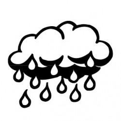 Elbi Stempel aus Holz - Lehrer Motivstempel - Regenwolke