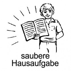Elbi Lehrerstempel Holz-Motivstempel - saubere Hausaufgabe (Junge)