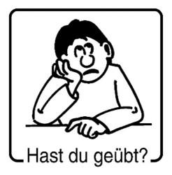Elbi Motivstempel Kinder Holzstempel - Hast du geübt?