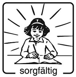 Elbi Motivstempel Kinder Holzstempel - sorgfältig