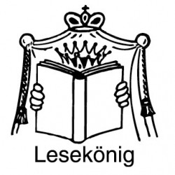 Elbi Stempel aus Holz - Lehrer Motivstempel - Lesekönig