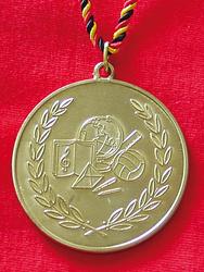 Goldmedaille Weltkugel …