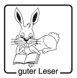 Elbi Motivstempel Kinder Holzstempel - guter Leser