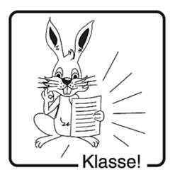 Elbi Motivstempel Kinder Holzstempel - Klasse!