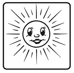 Elbi Motivstempel Kinder Holzstempel - Sonne strahlend