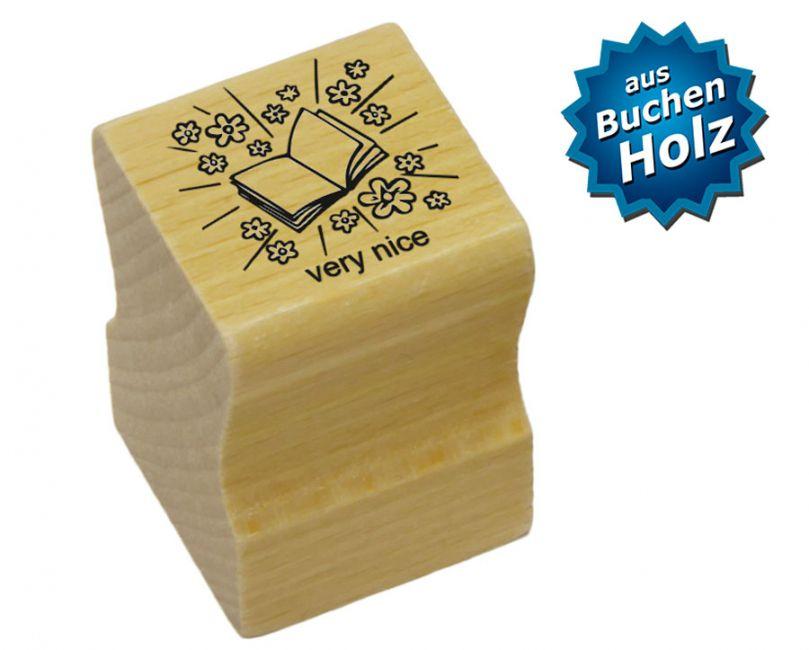 Elbi Englischstempel aus Holz - Heft mit Wort very nice