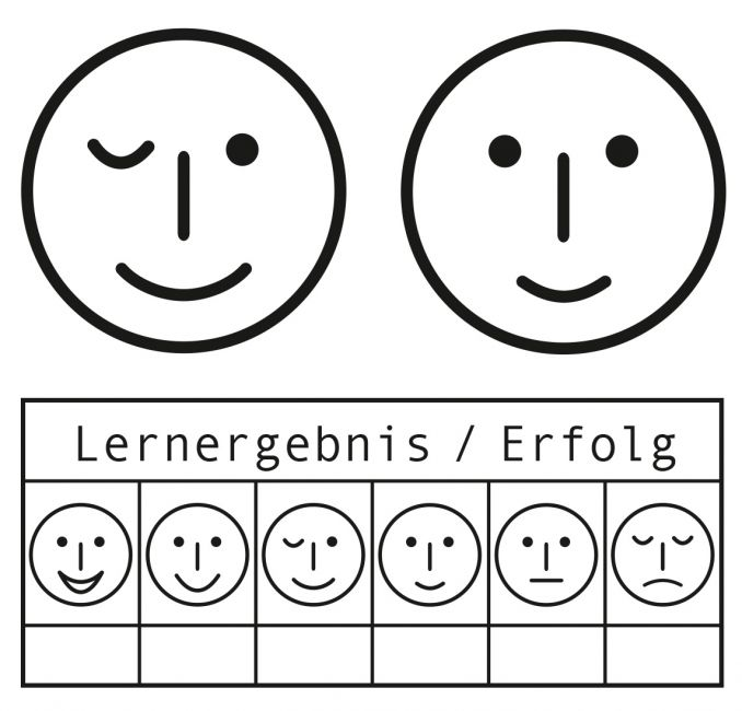 Elbi Lehrerstempel / Mimikstempel - Smiley-Ergänzungsset