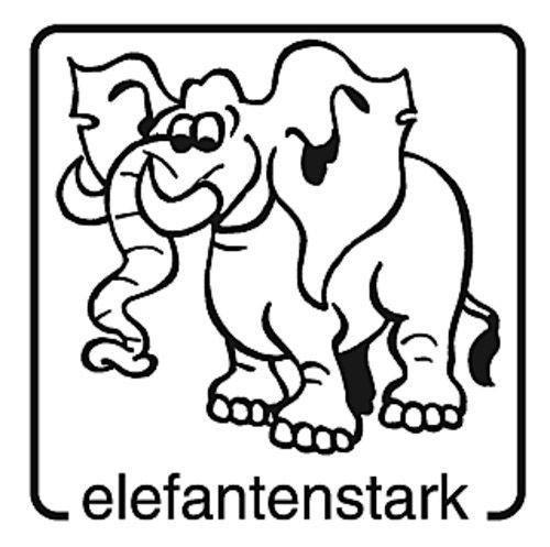 Elbi Motivstempel aus Holz - elefantenstark