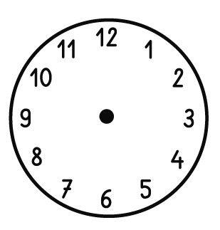 Elbi Motivstempel Kinder Holzstempel - Uhrenstempel mit Ziffern