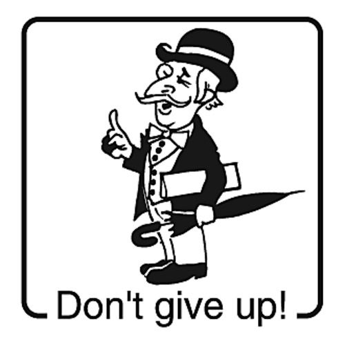 Elbi Englischstempel - Don't give up!