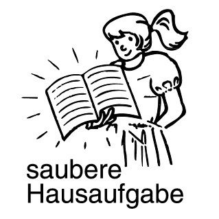 Elbi Stempel aus Holz - Lehrer Motivstempel - saubere Hausaufgabe (Mädchen)