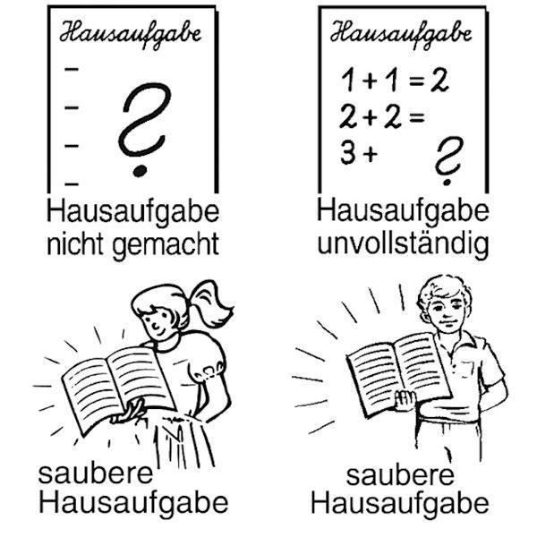 4 x Hausaufgabenstempel