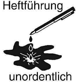 Elbi Stempel aus Holz - Lehrer Motivstempel - Heftführung unordentlich