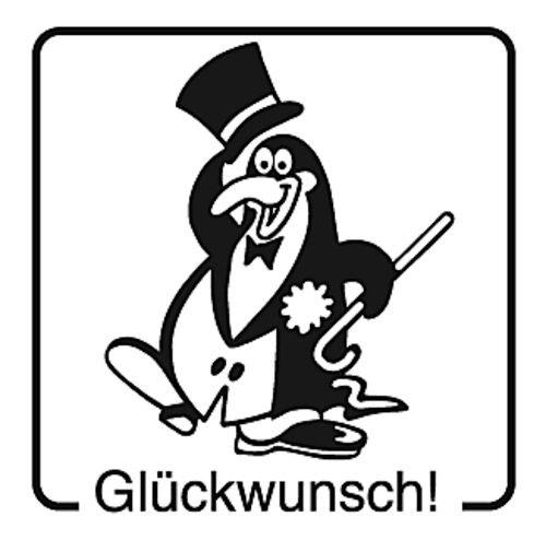 Elbi Motivstempel Kinder Holzstempel - Glückwunsch!