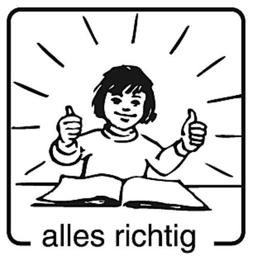 Elbi Motivstempel Kinder Holzstempel - alles richtig
