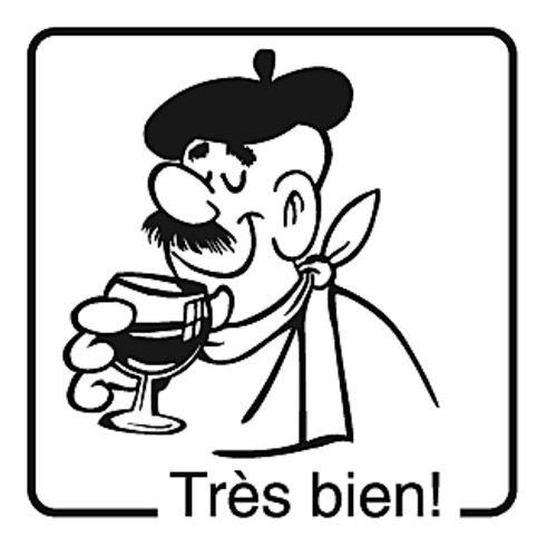 Elbi Französischstempel Lehrerstempel aus Holz für Kinder - Très bien!