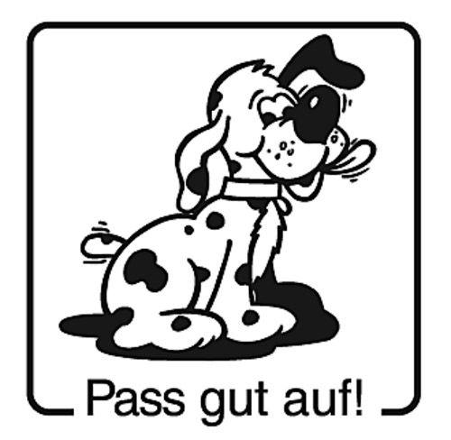 Elbi Motivstempel Kinder Holzstempel - Pass gut auf!