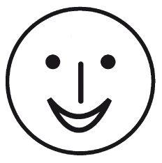 Elbi Motivstempel Kinder Holzstempel - Smiley lachend