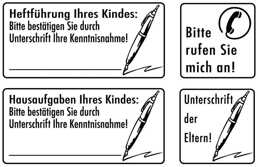 Elbi Lehrerstempel Stempelset aus Holz - Elternkontakt