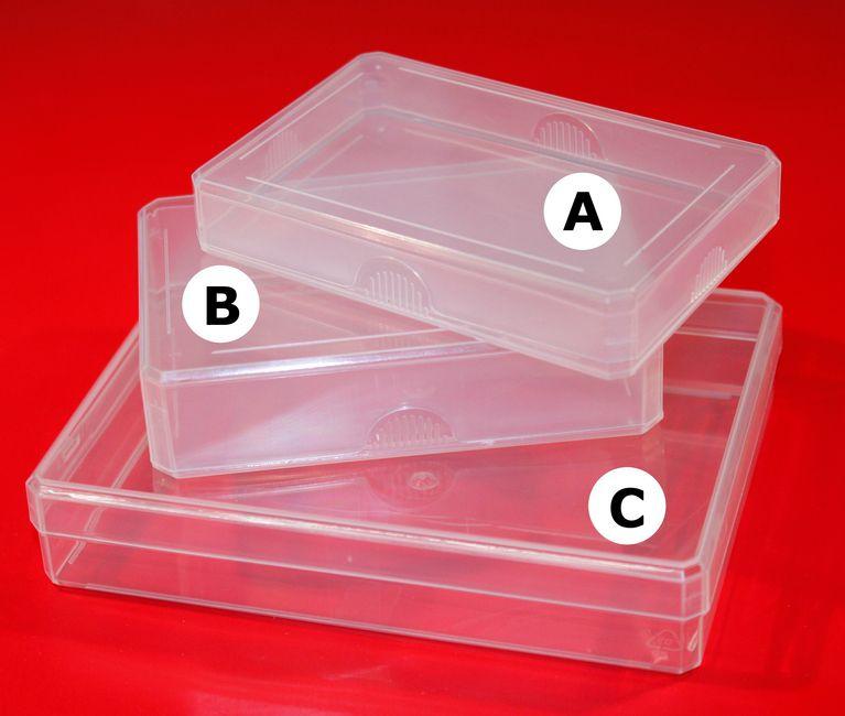 Kunststoffleerkassette klein (unzerbrechlich)