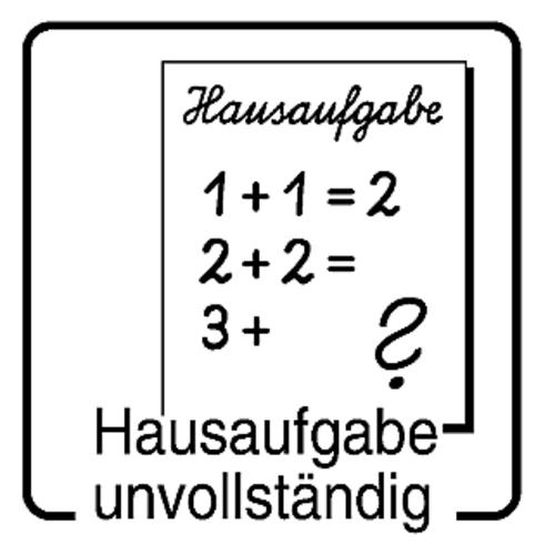 Elbi Hausaufgabenstempel für Lehrer - Hausaufgabe unvollständig