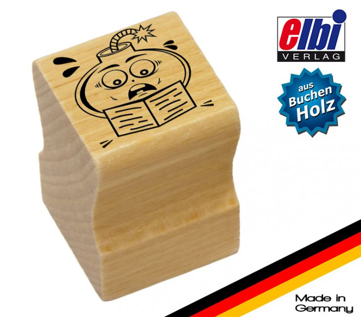 """Elbi Lehrerstempel aus Holz - Tadelstempel """"grrr..."""""""