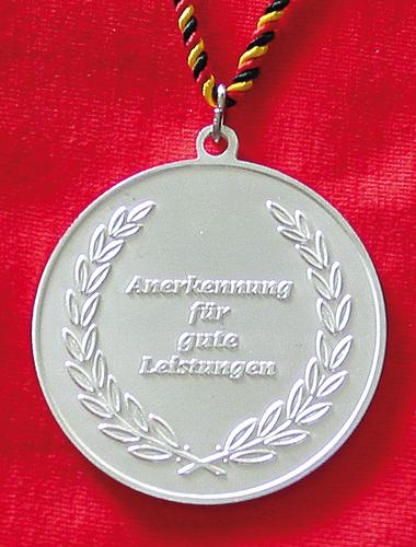 Silbermedaille - Weltkugel …
